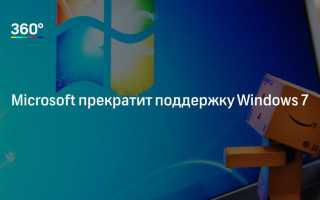 Поддержка Windows 7 после 2019 года